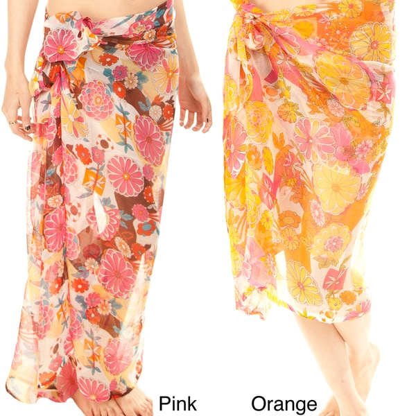 Floral Chiffon Print Sarong (India)