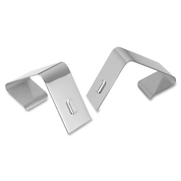 Silver Quartet Flexible Metal Cubicle Hangers for 1 1/2