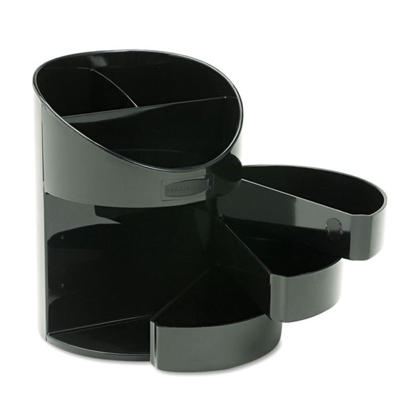 Rubbermaid Small Storage Black Divided Pencil Cup 7950819