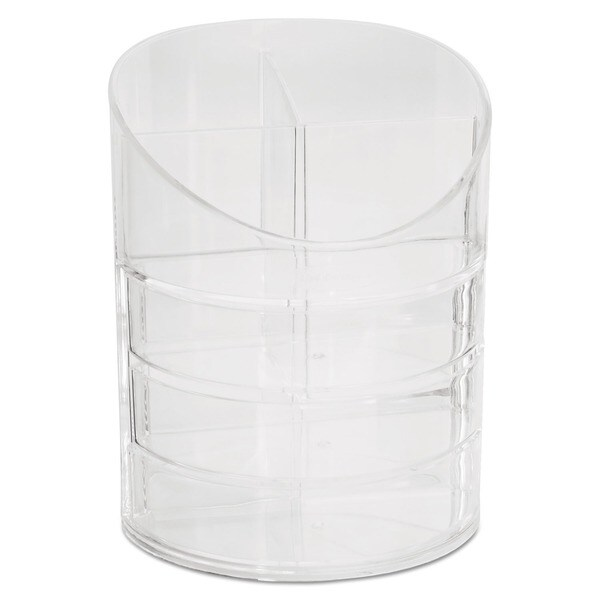 Rubbermaid Small Clear Plastic Storage Divided Pencil Cup 7950820