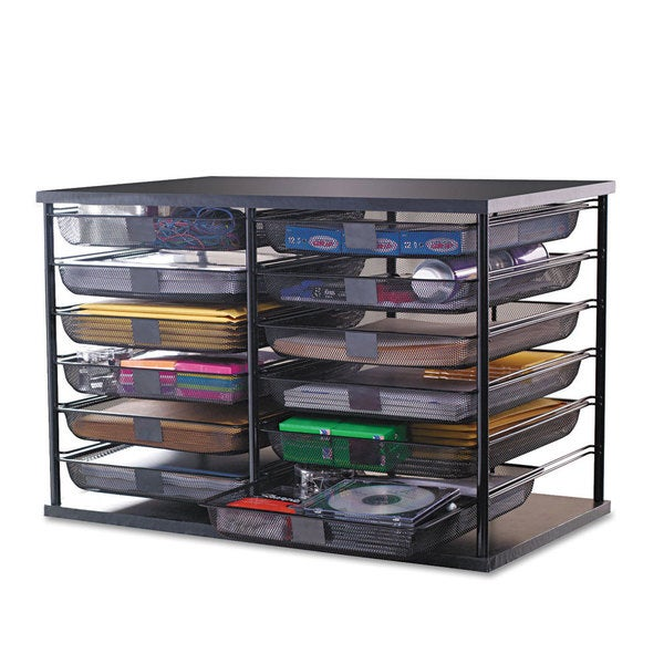 rubbermaid 12 compartment organizer with mesh drawers 13582454