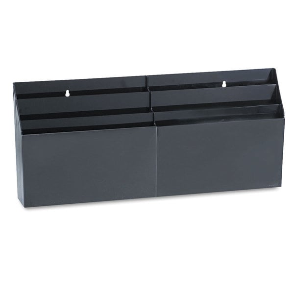 Rubbermaid optimizers x 3 8 x black 6 pocket - Rubbermaid desk organizer ...