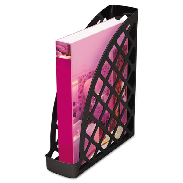 Universal Recycled Plastic Black Magazine File (Pack of 4)