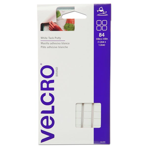 Velcro Sticky Fix Tak- Removable- 84 Squares/Pack
