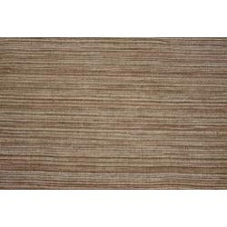 Hand-knotted Mediterranean Brown Stripe Wool Rug (8' x 10')