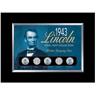 American Coin Treasures Framed 1943 Lincoln Steel Penny Collection