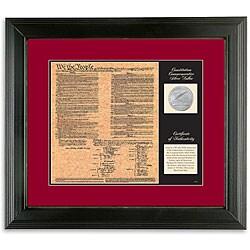 American Coin Treasures U.S. Constitution Facsimile and Commemorative Silver Dollar