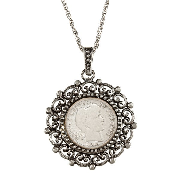 Barber Necklace : American Coin Treasures Silver Barber Dime Beaded Necklace - 13584909 ...