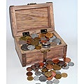 American Coin Treasures Treasure Chest 100-count Foreign Coins