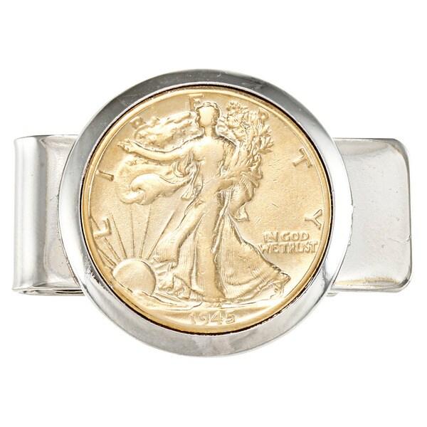 American Coin Treasures Silver Walking Liberty Half Dollar Money Clip