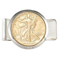 American Coin Treasures Silver Walking Liberty Half Dollar Money Clip