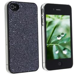 Snap-on Black Bling Case for Apple iPhone 4