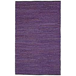 Purple Matador Hand-woven Leather Rug (8' x 10')