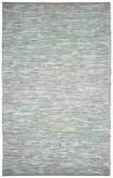 Matador White Hand-woven Leather Rug (2'6 x 4'2)