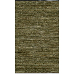 Matador Green Hand-woven Leather Rug (5' x 8')