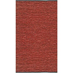 Hand-woven Copper Matador Leather Rug (5' x 8')