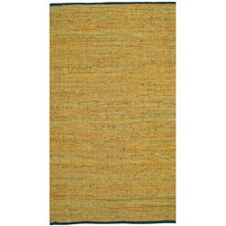 Matador Gold Hand-woven Leather Rug (8' x 10')