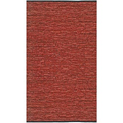 Hand-woven Matador Copper Leather Rug (8' x 10')