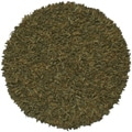 Hand-tied Pelle Green Leather Shag Rug (4' Round)