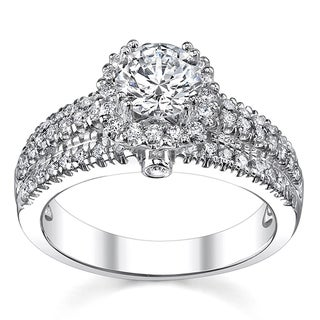 14k White Gold 1 3/8ct TDW Engagement Ring (H-I, SI1-SI2)