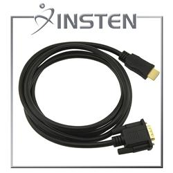 INSTEN M/ M 6-foot Black HDMI to VGA Cable