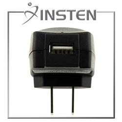 INSTEN Black USB Travel Charger Adapter