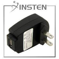 INSTEN Black USB Travel Charger Adapter for Apple iPhone 4/ 4S/5/ 5S/ 6