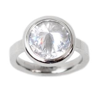 NEXTE Jewelry Pavilion White Cubic Zirconia Solitaire Ring
