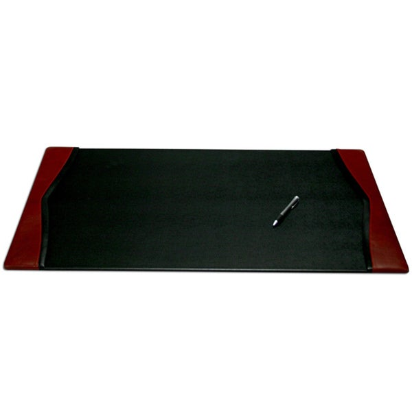 Dacasso Burgundy 34 X 20 Inch Leather Desk Pad 13586008