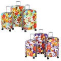 Olympia Blossom 3-piece Fashion Hardside Spinner Luggage Set