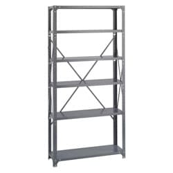 Safco Commercial Gray Steel Shelving Six-Shelf Shelf Kit