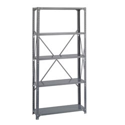 Safco Commercial Steel Shelving Dark Grey-Finish 5-Shelf Shelf Kit