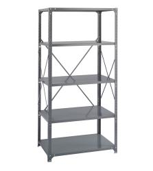 Safco Commercial Steel Shelving 350-Pound Capacity 5-Shelf Shelf Kit