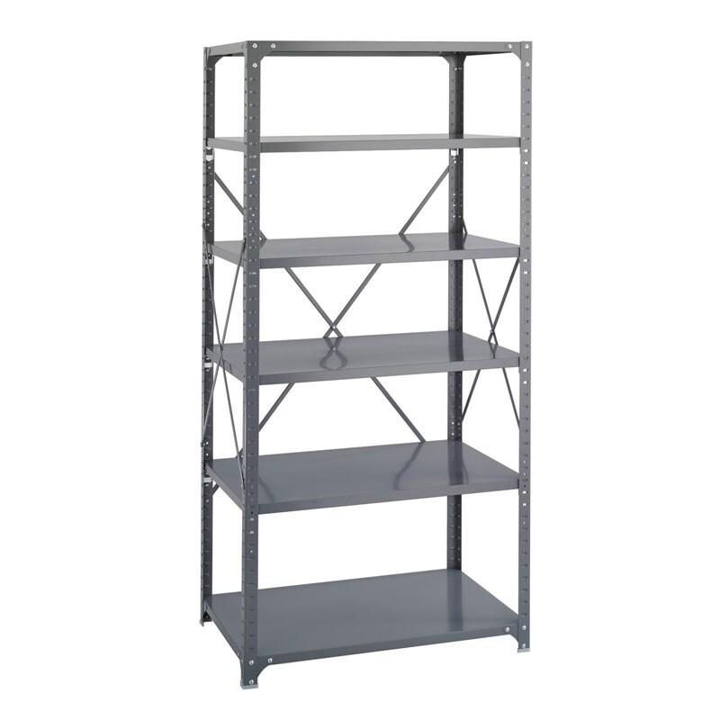 Safco Commercial Stainless-Steel Shelving Six-Shelf Shelf Kit