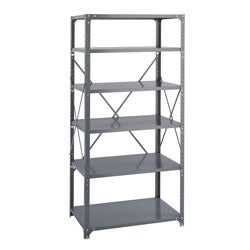 Safco Commercial Stainless-Steel Shelving Six-Shelf Shelf Kit