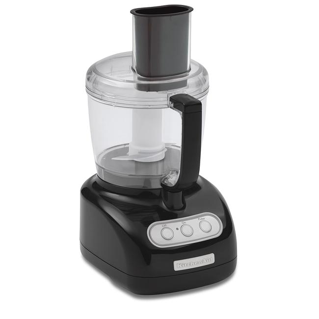 KitchenAid RKFP710OB Onyx Black 7-cup Food Processor (Refurbished)