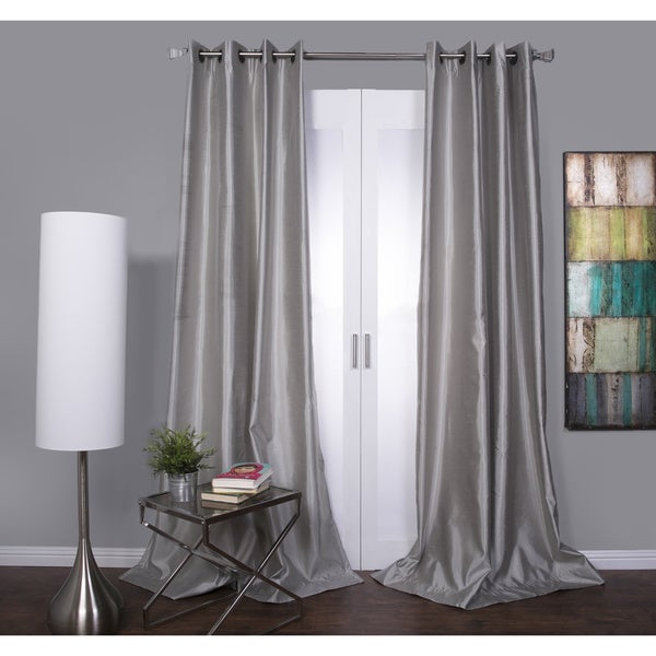 Mia Faux Silk Curtain Panel