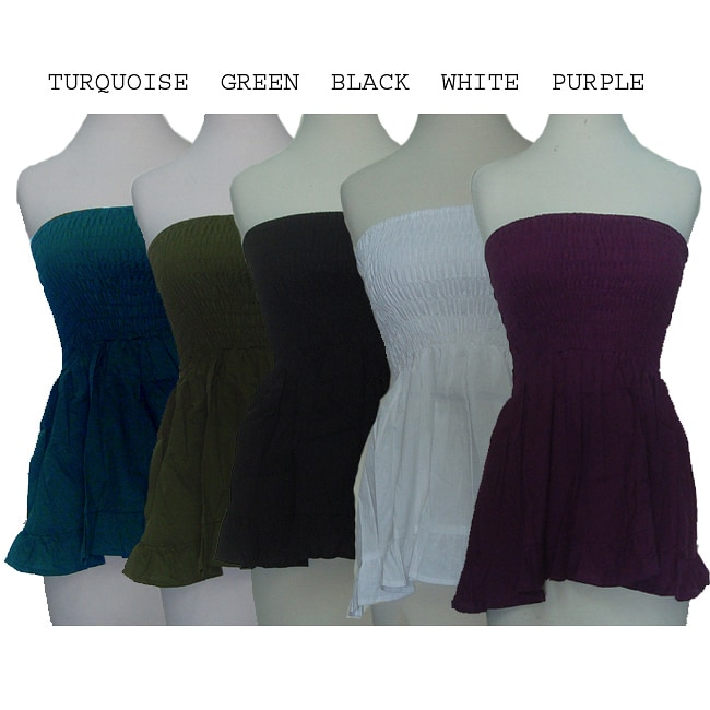 Women's Cotton Solid Color Tube Top (Nepal)