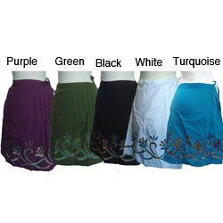Women's Cotton Solid Color Skirt (Nepal)