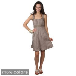 Journee Collection Juniors Square Neckline Ruffled Strap Dress