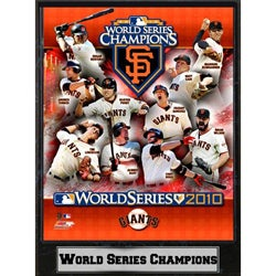 San Francisco Giants 2010 World Series Champion 9x12 Plaque