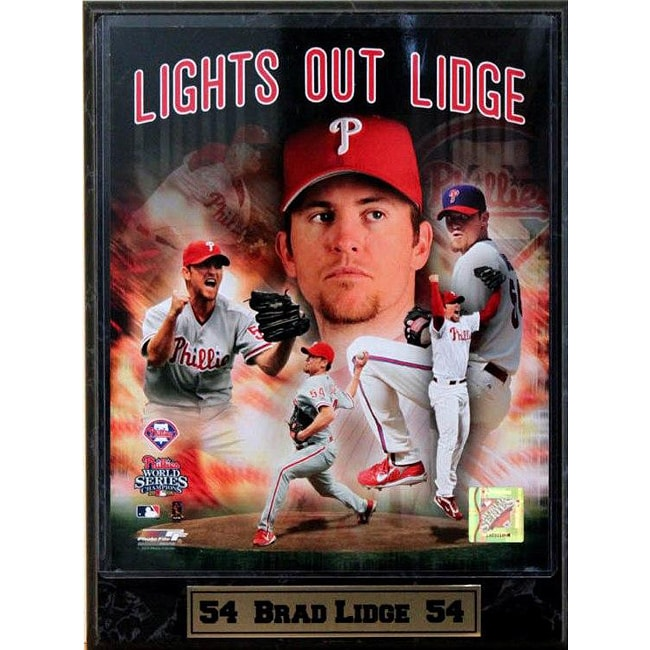 Philadelphia Phillies Brad Lidge 9x12 Photo Plaque
