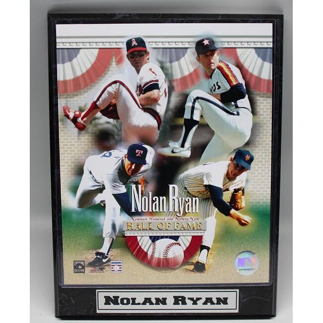 Nolan Ryan Commemorative 9x12 Photo Plaque