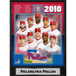 Philadelphia Phillies 2010 Team 9x12 Photo Plaque