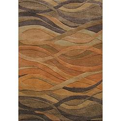 Alliyah Handmade New Zeeland Blend Classic Multicolor Wool Area Rug (4' x 6')