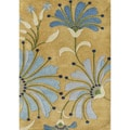 Alliyah Handmade New Zeeland Blend Gold Wool Rug (8' x 10')