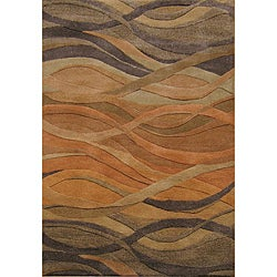 Sale alerts for  Alliyah Handmade Multi Abstract New Zealand Blend Wool Rug (9' x 12') - Covvet