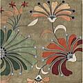 Alliyah Handmade Khaki Green New Zealand Blend Wool Rug (6' Square)