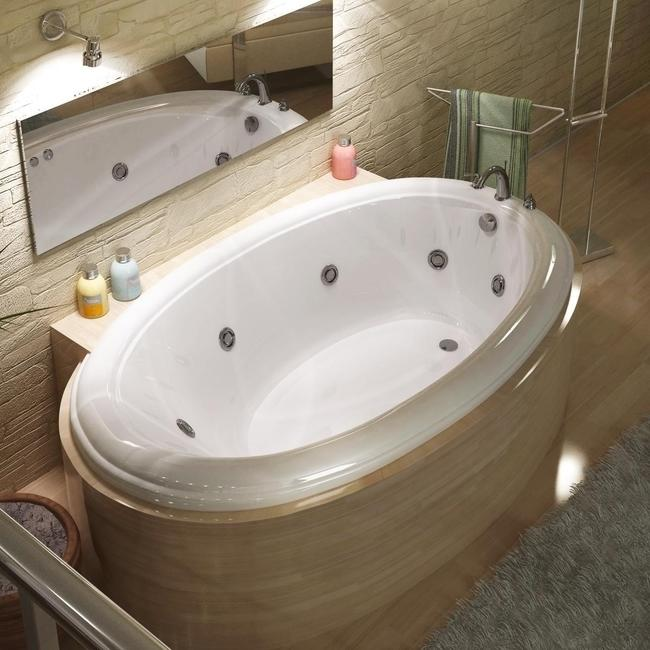 Petite White 60x36 In Whirlpool Tub 13586346 Overstock