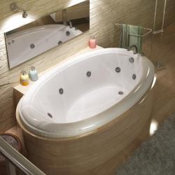 Petite White 60x36-in Whirlpool Tub